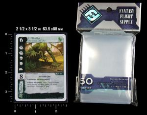 Fantasy Flight 63.5mm x 88mm - Standard US Game Size Card Sleeves